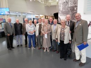 Redditch members gathering for a visit round the museum